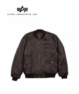 Куртка Alpha Industries MA-1 Leather Jacket Brown L