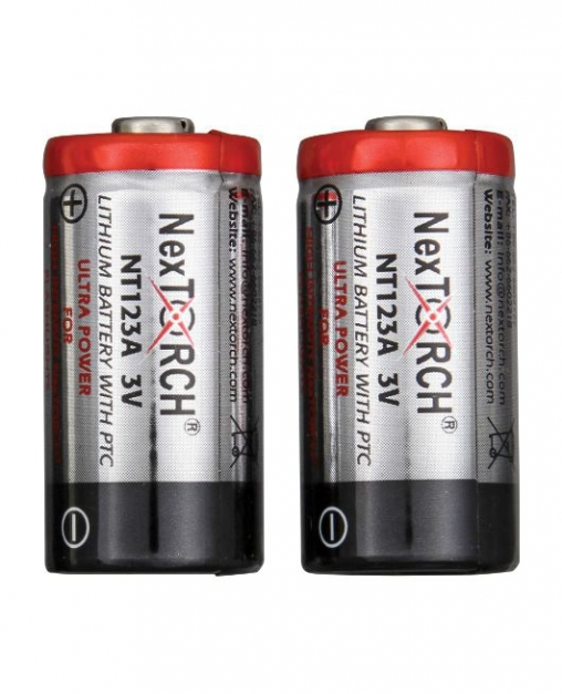 Акумуляторні батарейки NexTorch NTR123A-SET 2шт. + зарядний пристрій